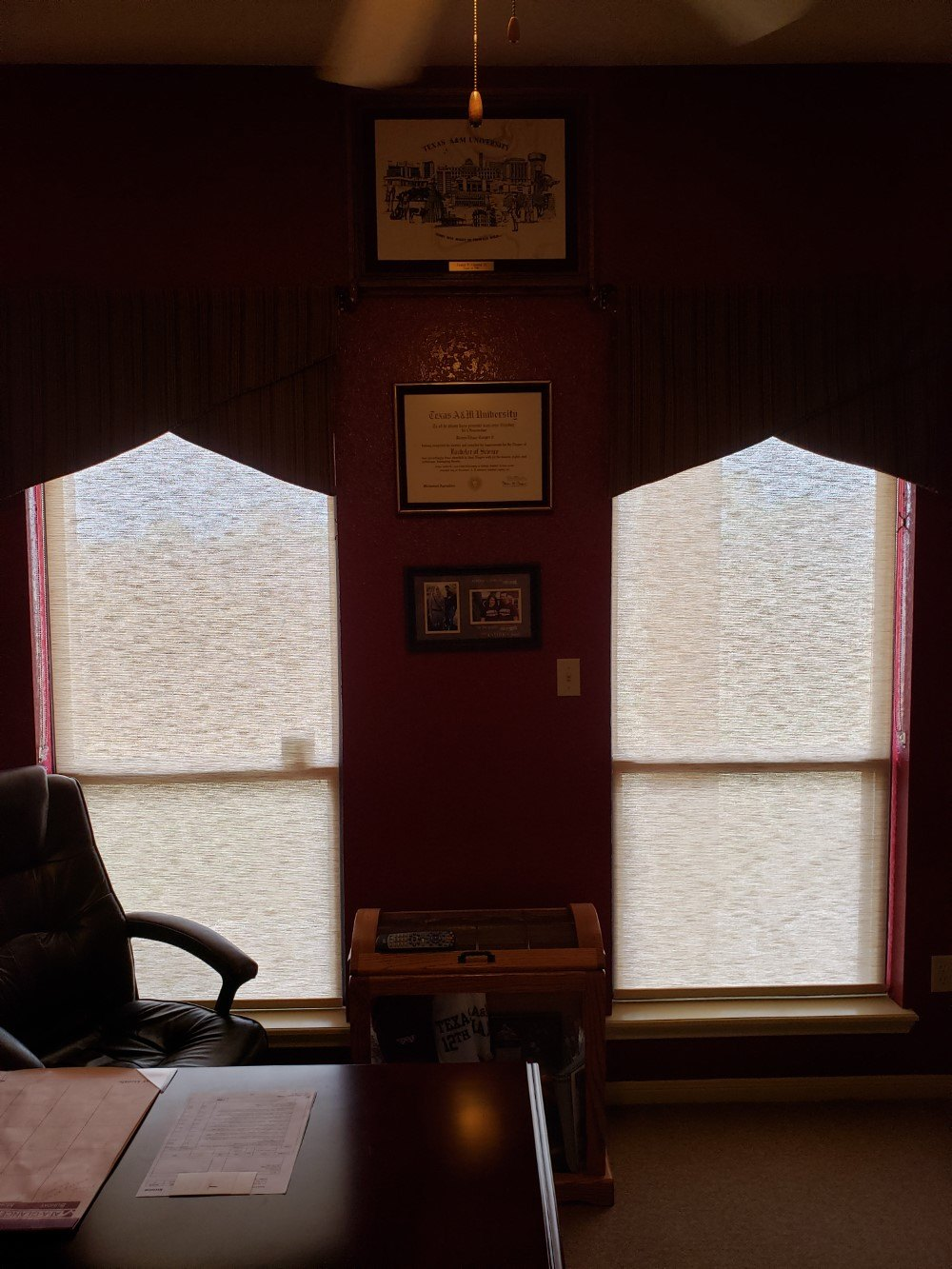 Designer Roller Shades with Fabric Wrapped Fascia in Jourdanton, TX
