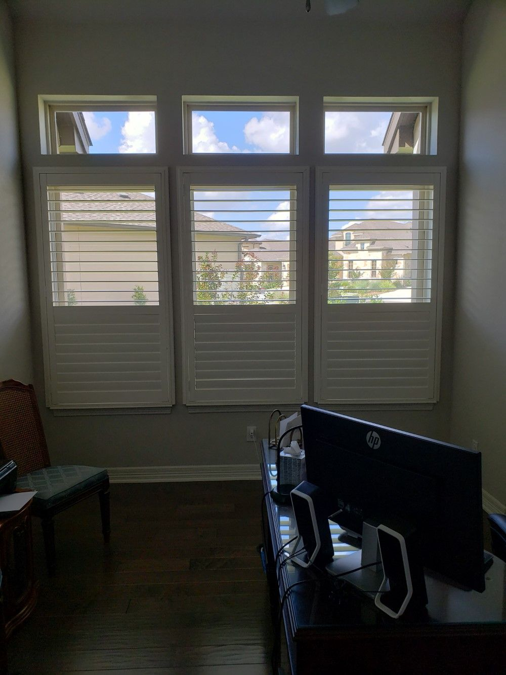 Elegant Broadleaf Shutters on TPC Parkway in San Antonio, TX
