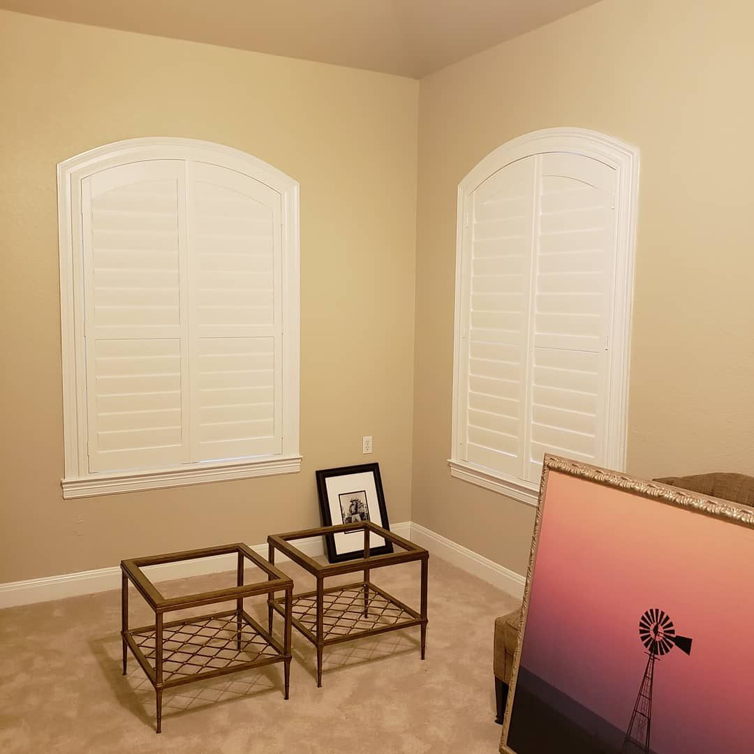 Elegant Chelsea Custom Color Arched Shutters in San Antonio, TX
