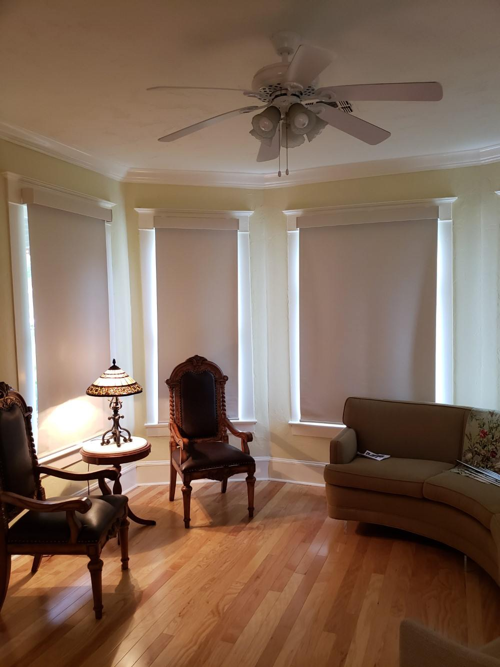 Hunter Douglas Designer Blackout shades installed in Fredericksburg, TX