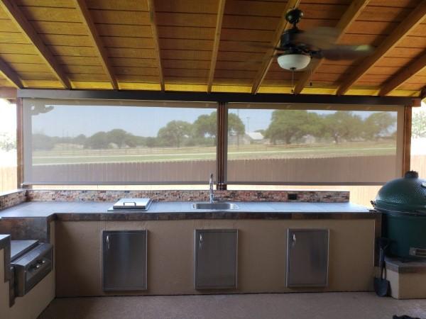Insolroll Outdoor Shades Installed in Bulverde, TX