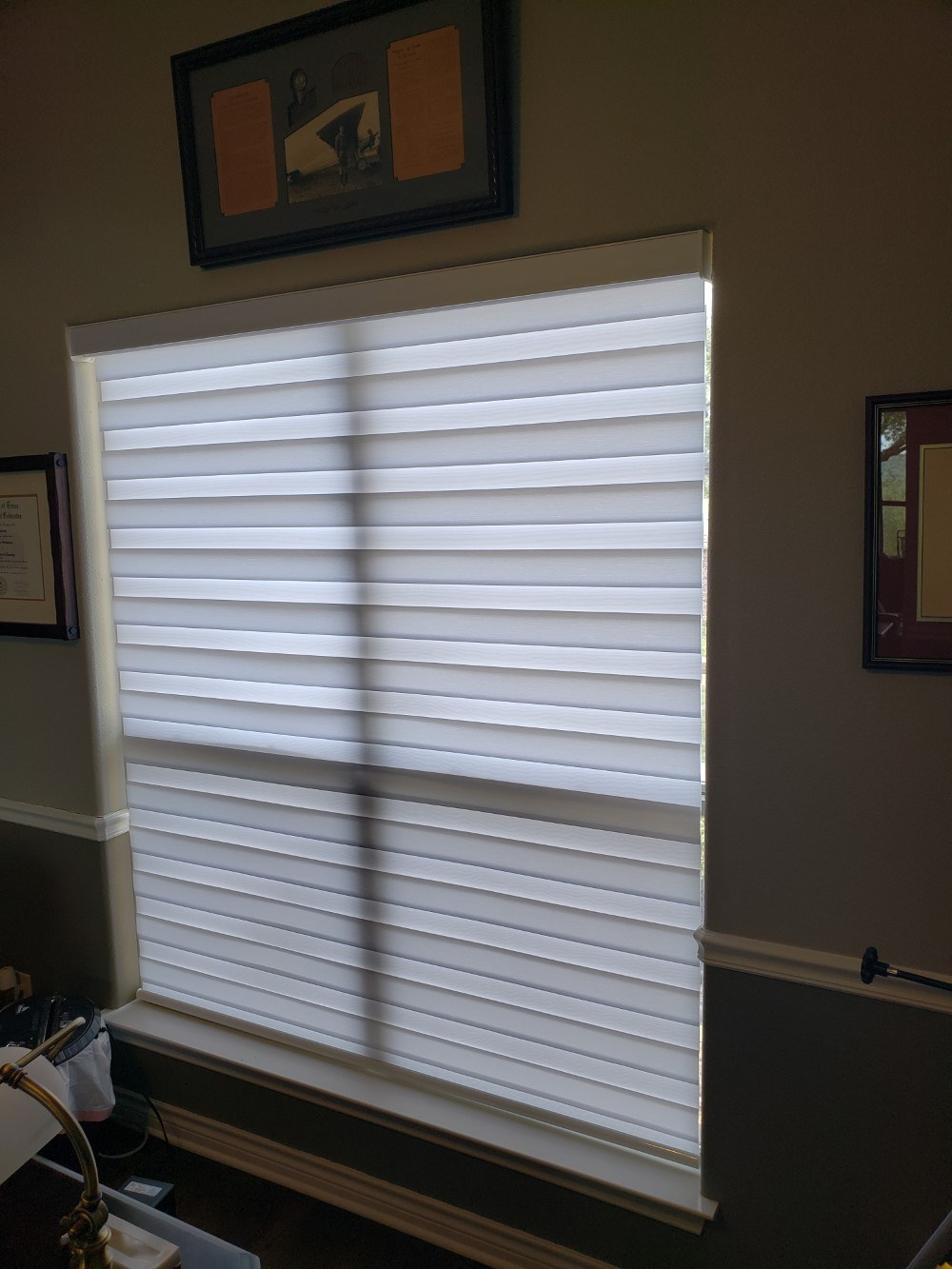 Louvolite Vision Banded Shades in Spring Branch, TX