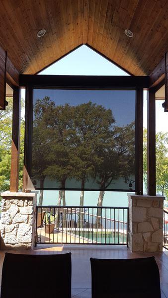 Exterior: Outdoor Roller Shades In New Braunfels, TX