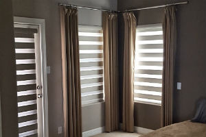 Powered Vision Banded Shades in New Braunfels, TX