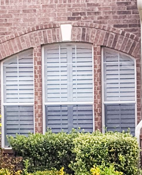 Specialty Shaped Shutters Installed on Keegans Bluff, in San Antonio, TX